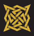 tribal symbol in four pointed star maze form vector image