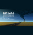 twisting tornado or storm from sea hurricane vector image