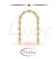 Wedding arch decorated with flowers vector image vector image