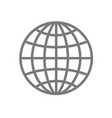 wireframe globe icon - planet symbol vector image