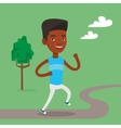 Young man running vector image vector image