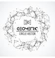 Wireframe mesh circle broken polygonal sphere vector image