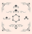 decorative elements border and page rules vector image
