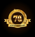 70 years anniversary celebration logotype vector image vector image