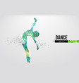 abstract silhouette a wireframe dancing woman vector image