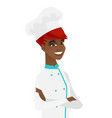 african-american confident chef with folded arms vector image vector image