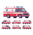 ambulance car van vector image