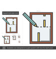 apartment plan line icon vector image
