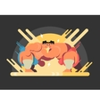 Athletes sumo fight vector image vector image