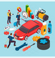auto service concept vector image vector image
