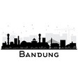 bandung indonesia city skyline silhouette with vector image vector image