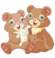 Bear brothers vector image