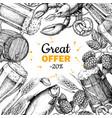 beer discount banner alcohol beverage hand vector image vector image