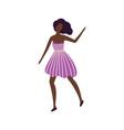 black skin girl dancer in good mood having fun vector image