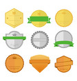 blank vintage custom shape badge emblem graphic vector image