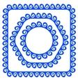 Blue Frames vector image vector image