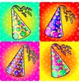 Cap holyday color carnaval holiday party hat vector image