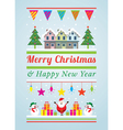 christmas decoration characters and objects vector image vector image