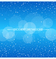 christmas winter blue background vector image vector image