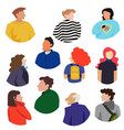 collection of people upperbodies vector image vector image