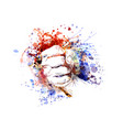 color of a clenched hand vector image vector image