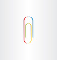 colorful paperclip icon logotype vector image