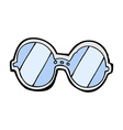 comic cartoon spectacles vector image vector image
