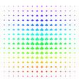 component shape halftone spectral grid vector image vector image