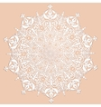 Decorative white ornament vector image