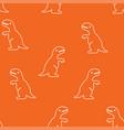 dinosaur tyrannosaurus pattern seamless vector image