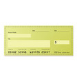 dollar cheque vector image vector image