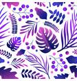 elegant natural gradient bright purple leaves vector image vector image