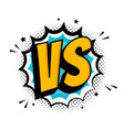 fight comic speech bubble with expression text vs vector image vector image