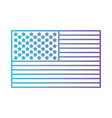 flag united states of america flat icon in color vector image vector image