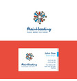 flat fireworks logo and visiting card template vector image