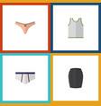flat icon garment set of singlet lingerie vector image