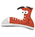 funny shoe character vector image vector image