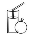 glass with juice orange vector image vector image