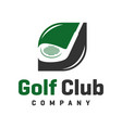 golf sports logo design vector image