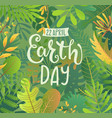 green banner for earth day vector image vector image