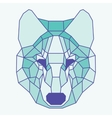 Green lined low poly wolf vector image vector image