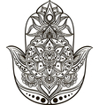 hamsa line art vector image vector image
