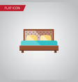 isolated bedroom flat icon hostel element vector image