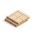 isometric wooden pallets vector image vector image
