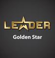 leader golden star inscription icon vector image vector image