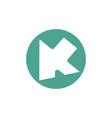 letter ak arrow geometric logo