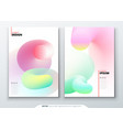 liquid cover set template for brochure banner vector image vector image