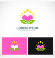 love beauty organic beauty logo vector image