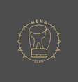 Mens Club logo Emblem for sports club for men Sign vector image vector image
