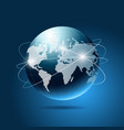 Modern blue globe network vector image vector image